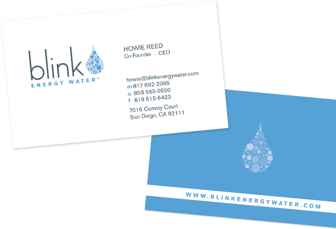 Blink Energy Water Business Cards