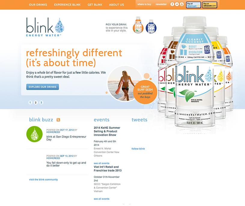 Blink Energy Water Website
